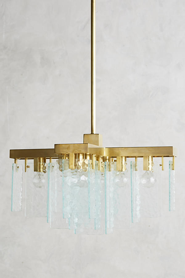 Slide View: 1: Crossed Cascade Chandelier