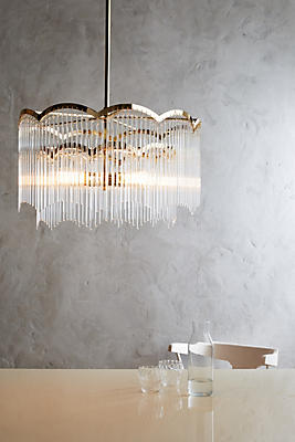 Slide View: 2: Arched Waterfall Chandelier