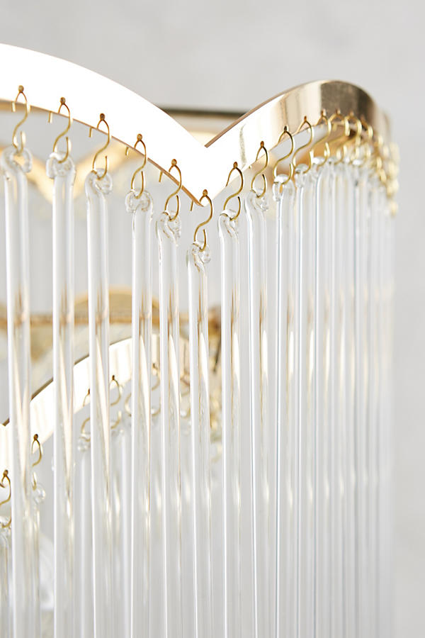 Slide View: 3: Arched Waterfall Chandelier