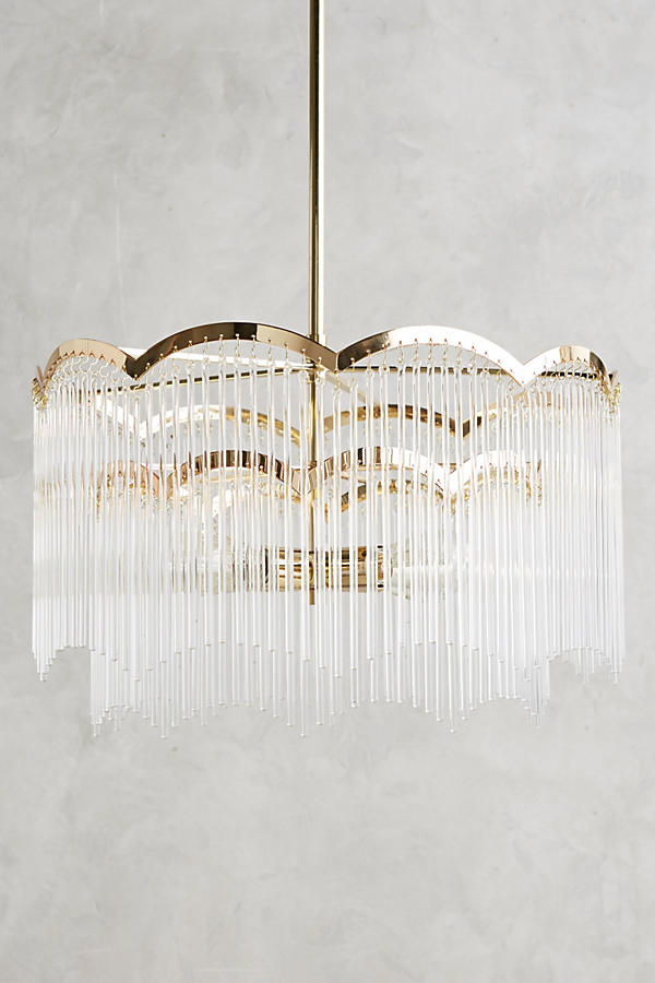 Slide View: 1: Arched Waterfall Chandelier