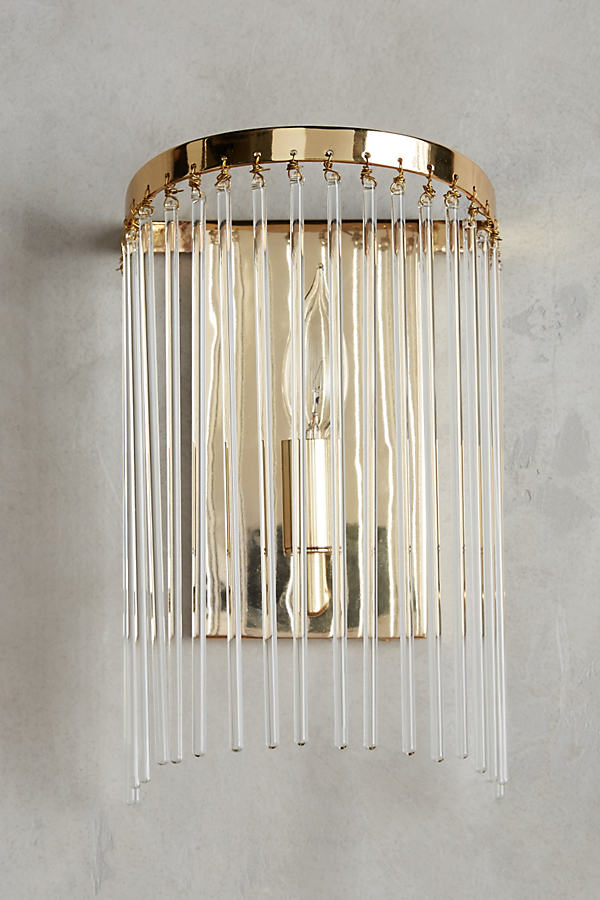 Arched Waterfall Sconce - Clear