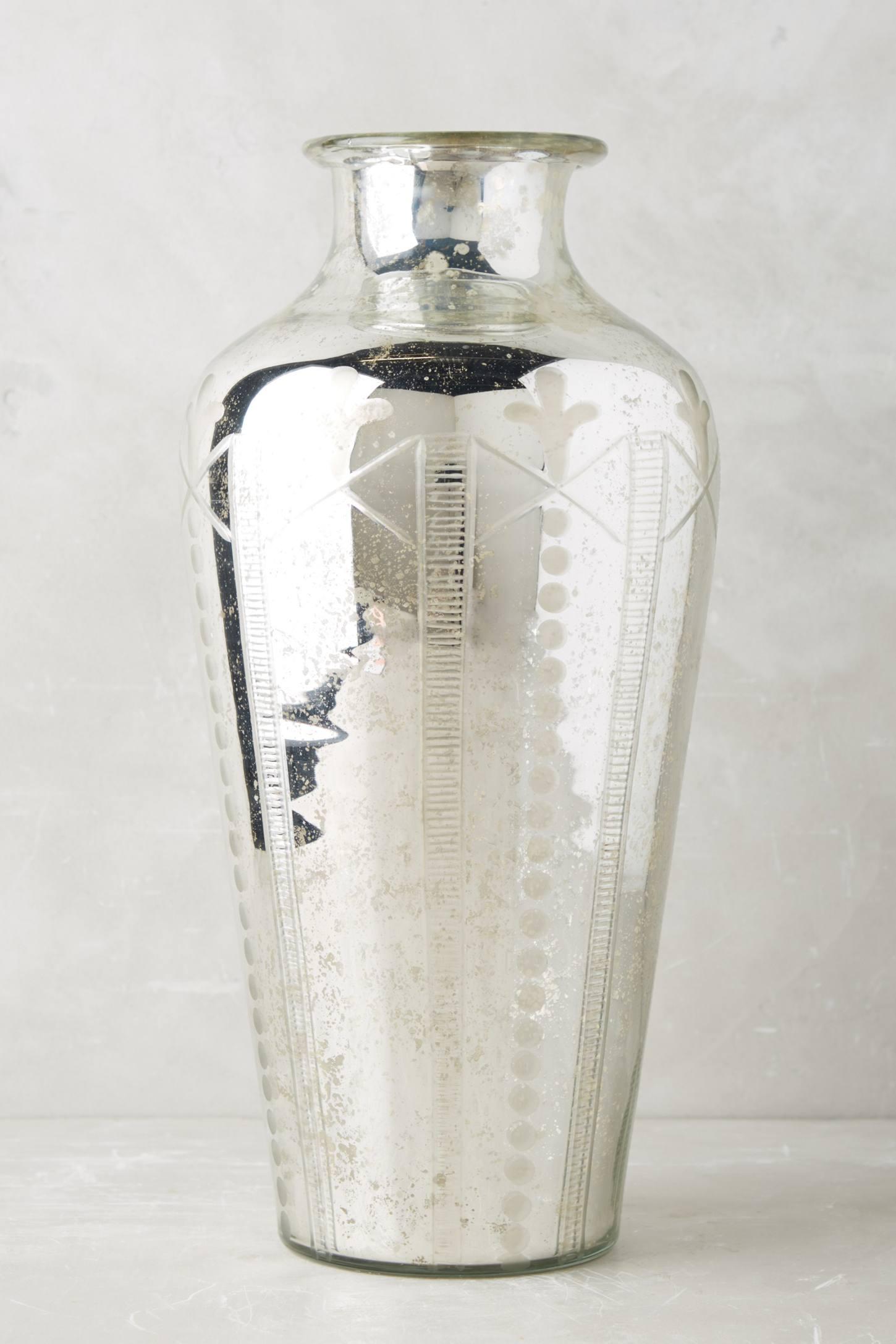 Etched Mercury Vase Anthropologie