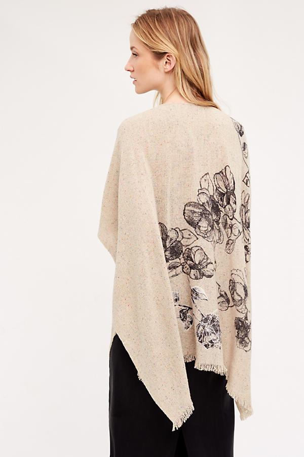 Floret Applique Kimono