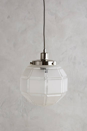 Slide View: 1: Luminaire globe Frosted Facet