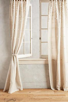 Slide View: 1: Handloom-Woven Curtain