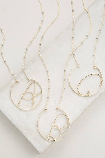 Monogramic Pendant Necklace