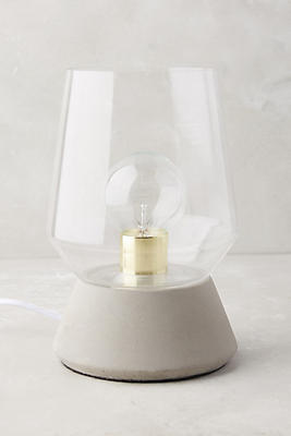 Glass Table Lamp faceted glass table lamp   anthropologie