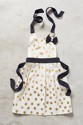 Gold Polka Dotted Kid'€™s Apron