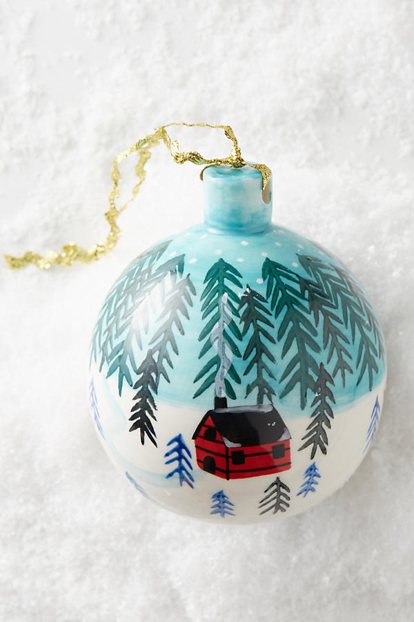 Painted Yuletide Ornament