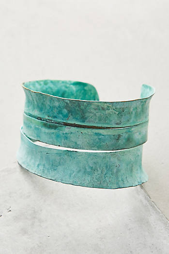 Sliced Patina Cuff
