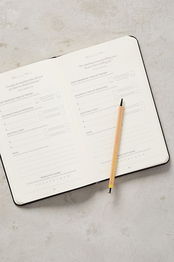 Productivity Planner Anthropologie - Productivity planner review