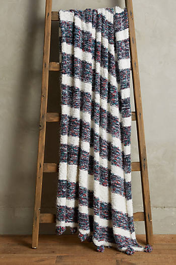 Confetti-Striped Throw