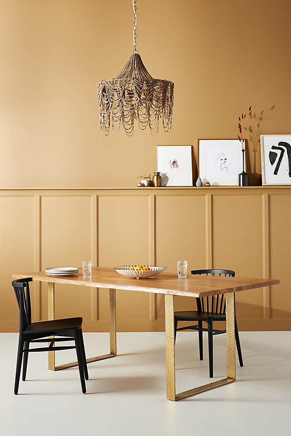 Slide View: 1: Smoked Oak Dining Table - Smoked Oak Dining Table Anthropologie