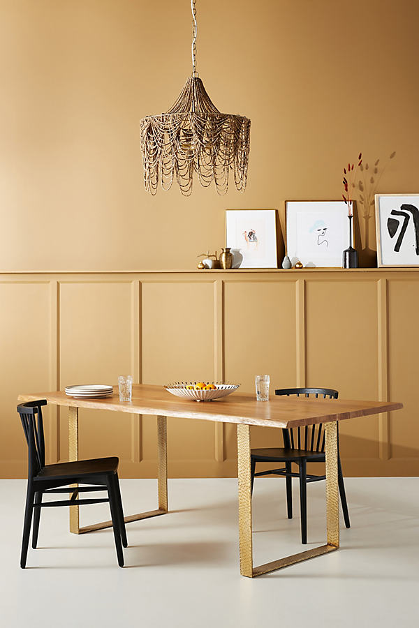 Smoked Oak Dining Table - Brown