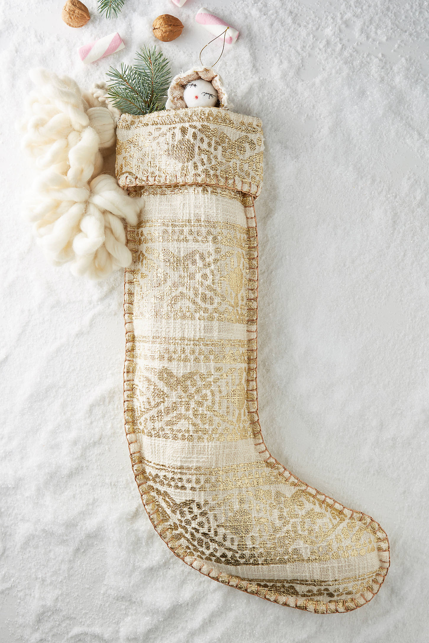 Gold Fair Isle Stocking