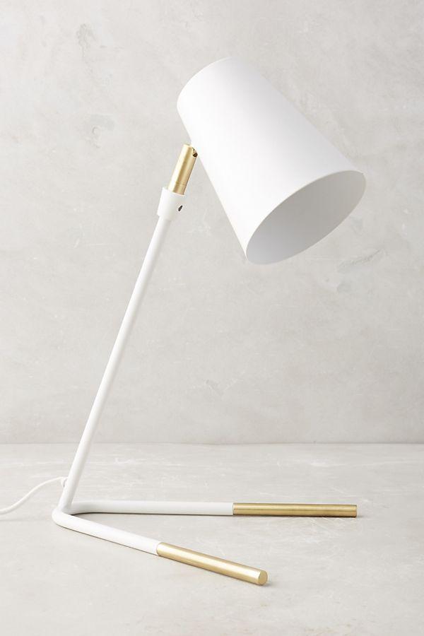 Slide View 1 Gold Dipped Task Lamp
