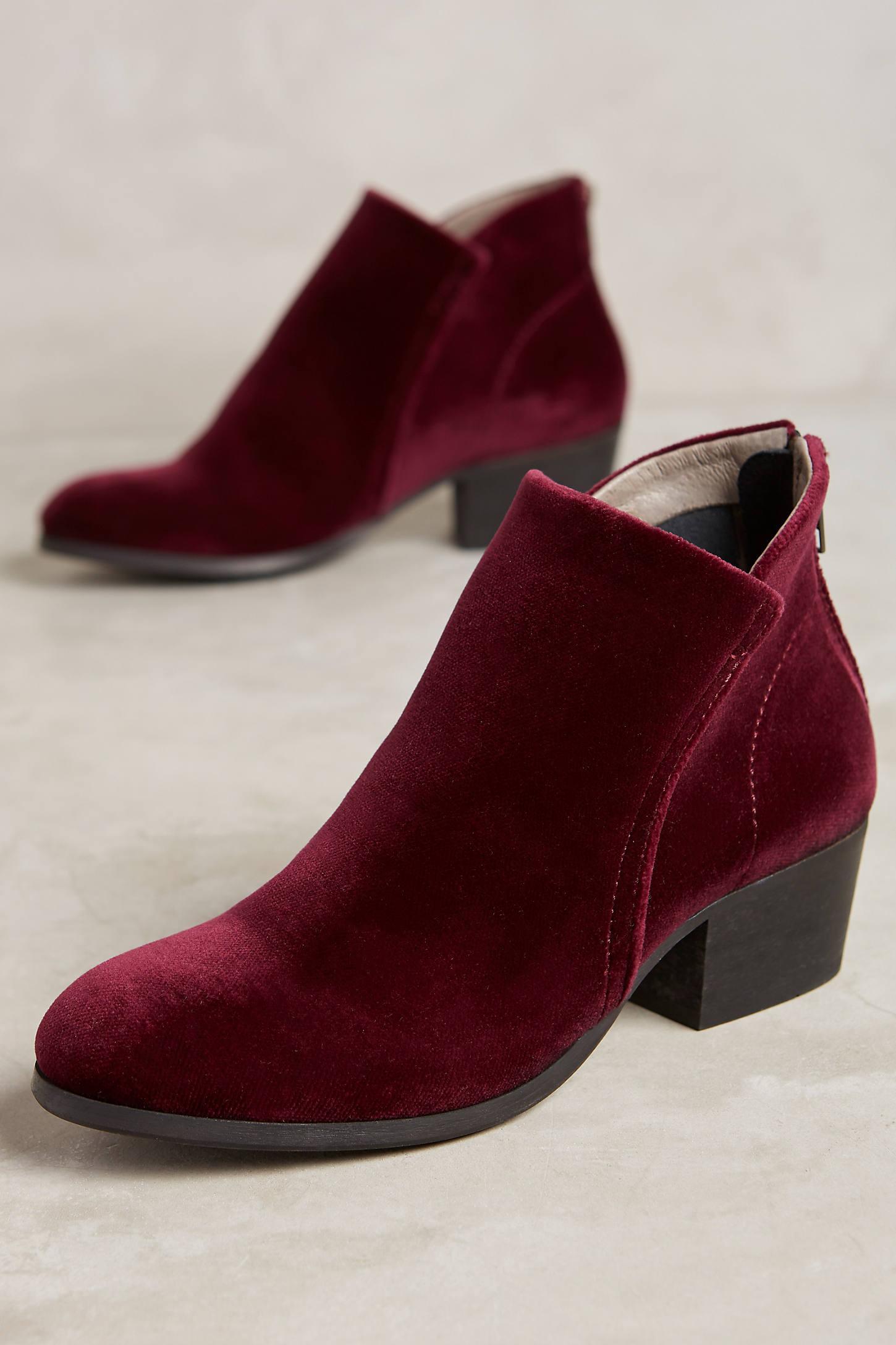 Hudson Velvet Apisi Ankle Boots