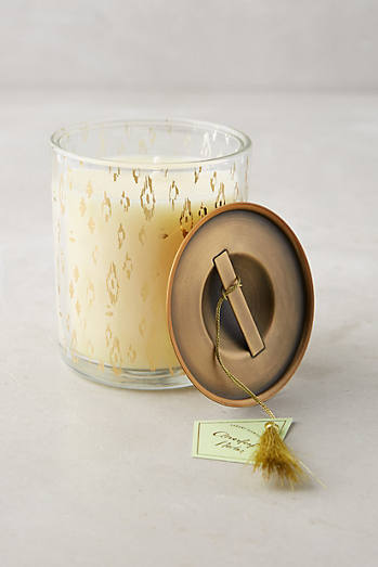 Gold-Flecked Candle