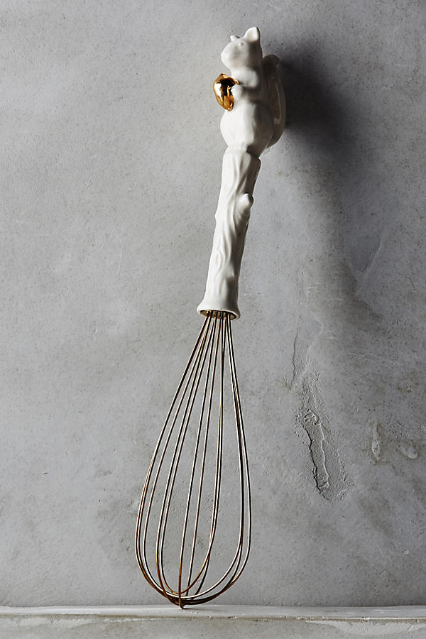 Slide View: 1: Ceramic Squirrel Whisk