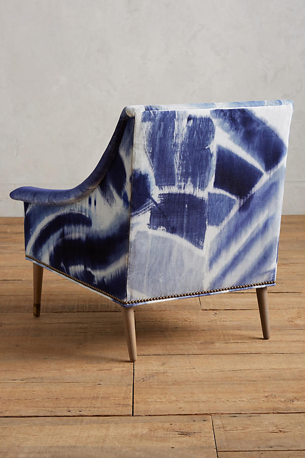 Slide View: 2: Shibori-Printed Tillie Armchair
