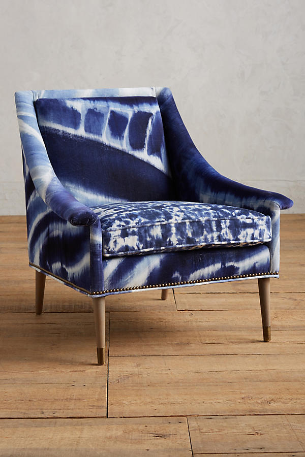 Slide View: 1: Shibori-Printed Tillie Armchair