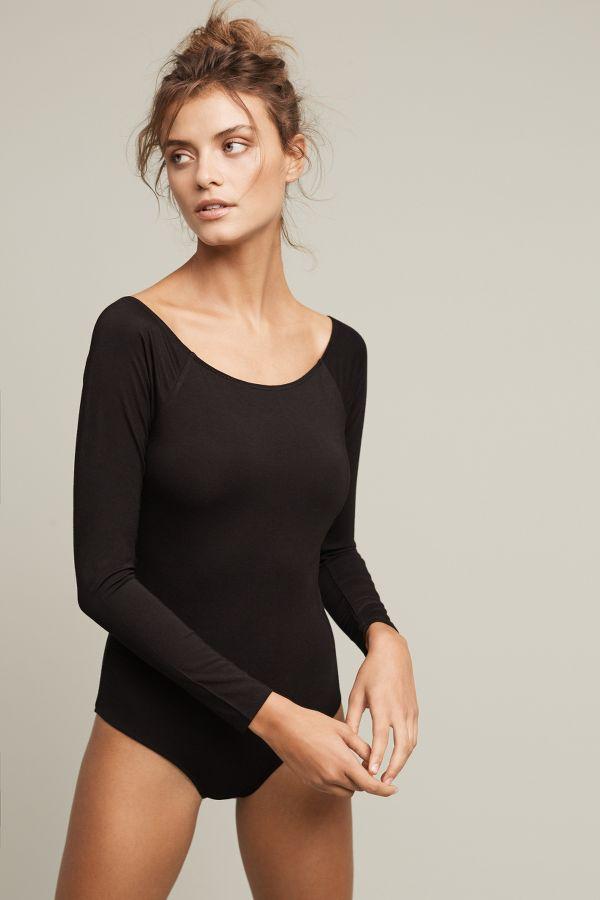 Lbb Long-Sleeved Boatneck Bodysuit