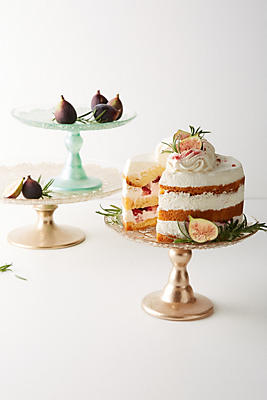 Slide View: 3: Metallic Lace Cake Stand