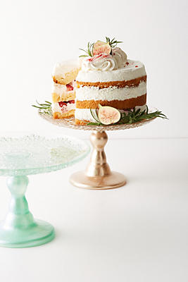 Slide View: 4: Metallic Lace Cake Stand