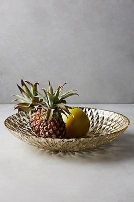 Mercury Glass Serving Bowl