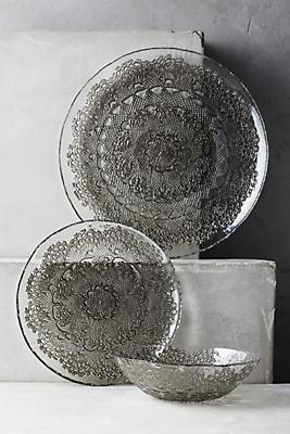 Metallic Lace Dinner Plate
