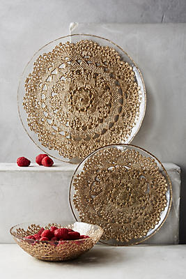 Metallic Lace Dinner Plate
