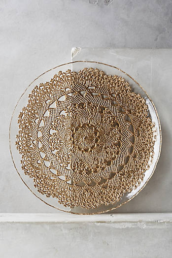Slide View: 1: Metallic Lace Dinner Plate