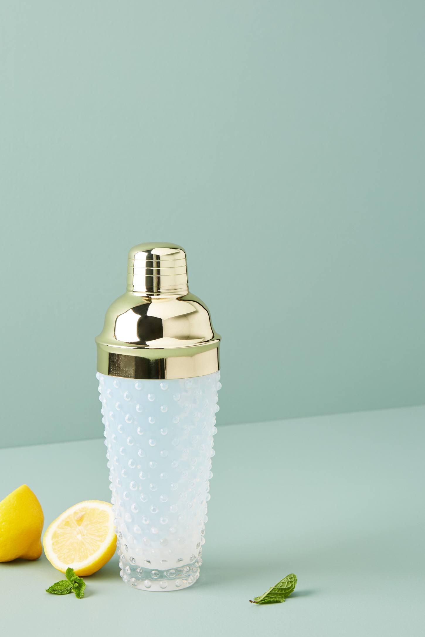Hobnail Glass Cocktail Shaker | Anthropologie