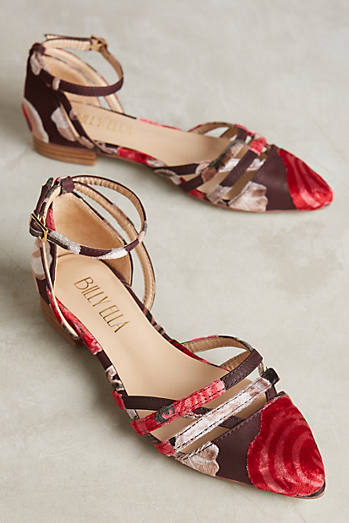 Billy Ella Isabella Burnout Velvet Flats