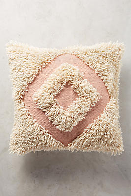 Slide View: 1: Langdon Shaggy Diamond Pillow