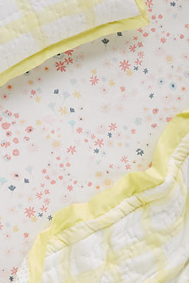 Slide View: 1: Peached Cotton Crib Sheet
