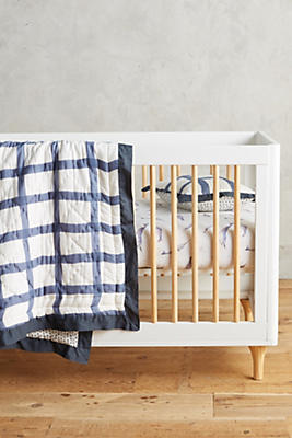 Slide View: 2: Gingham Toddler Quilt & Playmat