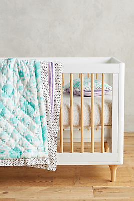 Slide View: 2: Watercolor Toddler Quilt & Playmat
