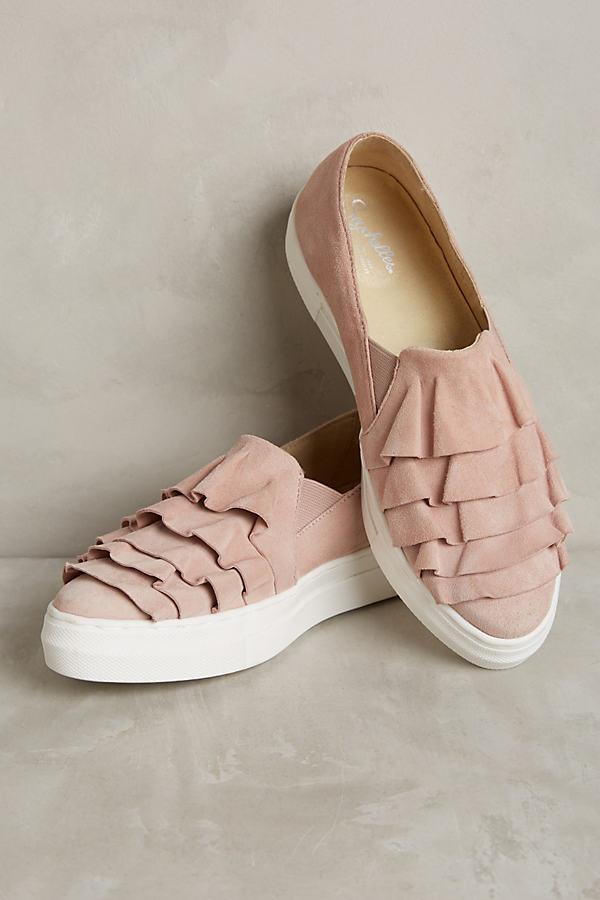 Seychelles Larissa Ruffle Trainers - Pink, Size Uk 8.5