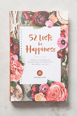 Slide View: 1: 52 Lists for Happiness Journal