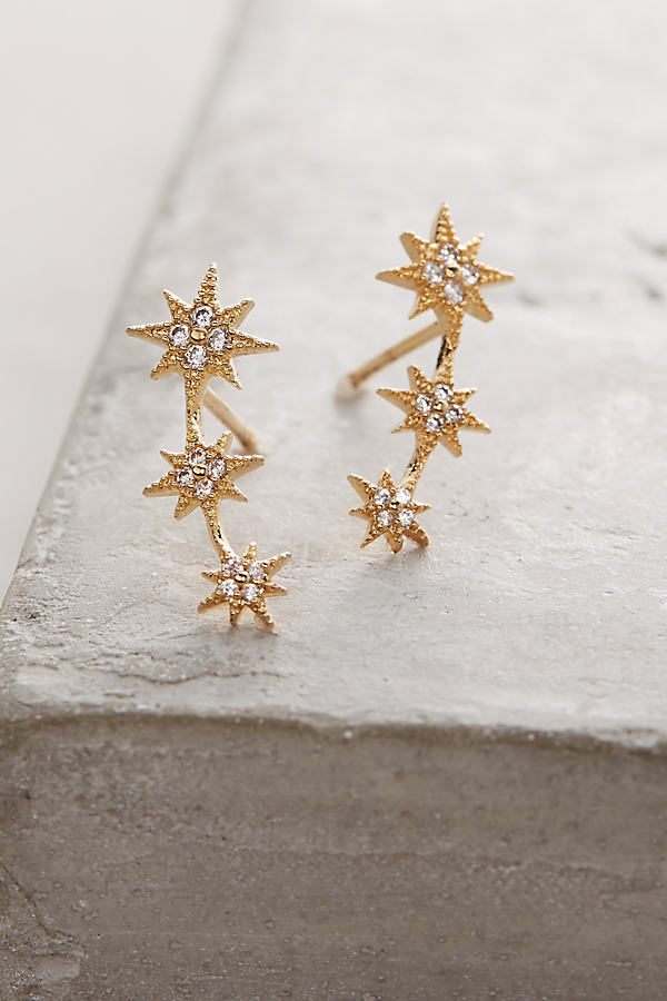 Tauri Crawler Earrings - Gold