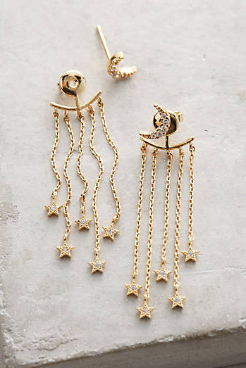 Fringed Lunar Front-Back Earrings