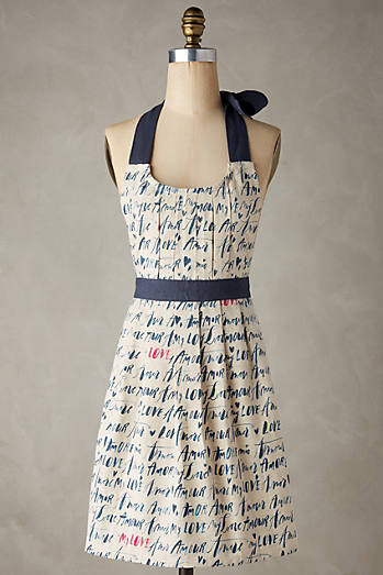 Language Of Love Apron