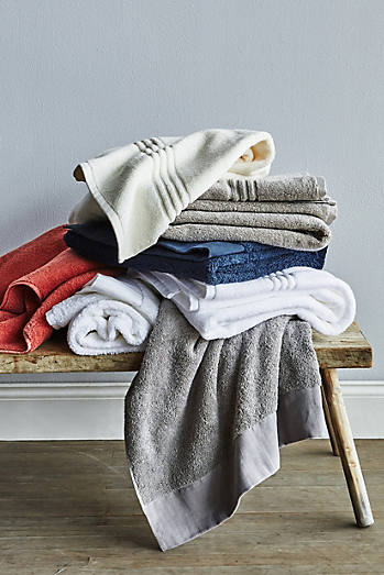 Linen Bordered Westchester Towel Collection. Shop Printed Bath Towels   Hand Towels   Anthropologie