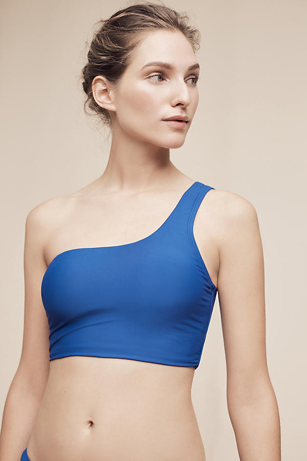 Slide View: 1: One-Shoulder Bikini Top