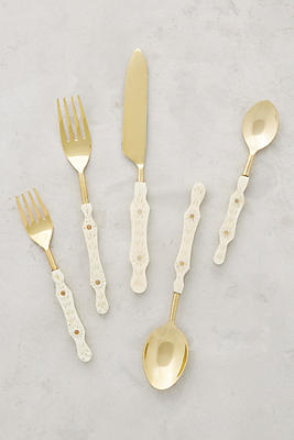 Hammered Brass Flatware