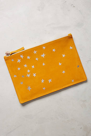 Clare V. Star Pattern Pouch
