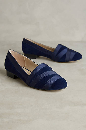 Bettye Muller Reed Velvet Loafers
