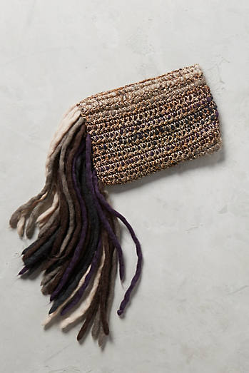 Fringed-Yarn Clutch