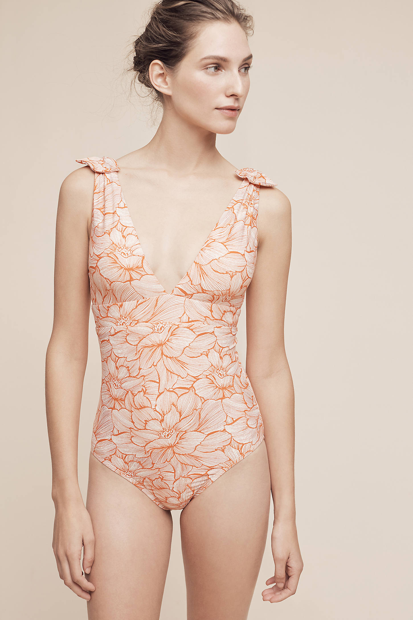 Bowtied One-Piece Swimsuit